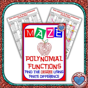 Maze - Polynomial Functions - Degree of Poly - Finite Difference