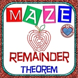 Maze - Polynomial Functions & The Remainder Theorem