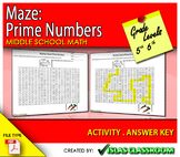Maze - Prime Numbers