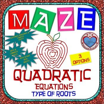 Maze - Quadratic Functions - Determine type of roots