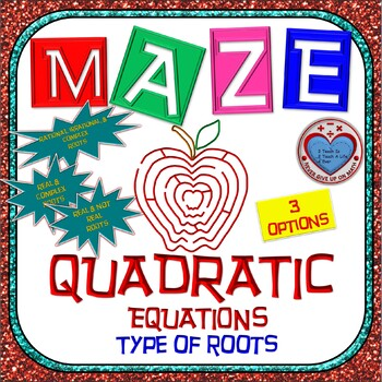 Maze - Quadratic Functions - Determine type of roots