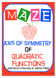 Maze - Quadratic Functions - Find Axis of Symmetry of Vertex and Standard Form