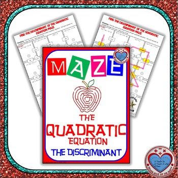 Maze - Quadratic Functions - Find the Discriminant