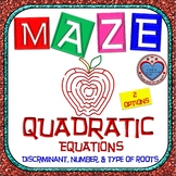 Maze - Quadratic Functions - Find the discriminant, number, and type of roots