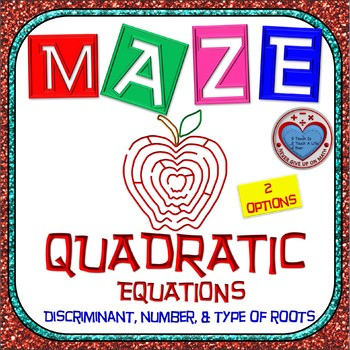 Maze - Quadratic Functions - Find the discriminant, number