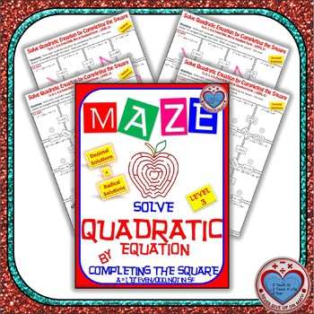Maze - Quadratic Functions - Solve Quad Equ by Completing the Square Level 1
