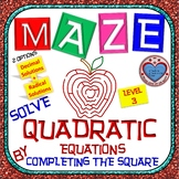 Maze - Solve Quadratic Equation by Completing the Square Level 3