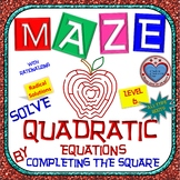 Maze - Quadratic Functions - Solve Quad Equ by Completing the Square Level 3