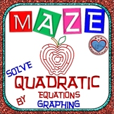 Maze - Quadratic Functions - Solve Quadratic Equation by Graphing
