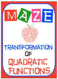 "Maze - Quadratic Functions - Writing QF in ""Vertex Form"" f"