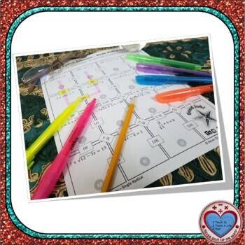 Maze - Radical Equations - Solving Radical Equations - Single Radical