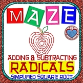"Maze - Radicals - Adding & Subtracting ""Simplified"" Square Root"