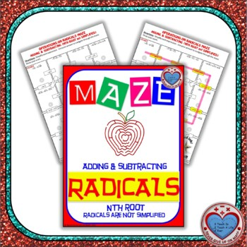 Maze - Radicals - Adding & Subtracting nth Root (NOT Simplified YET)