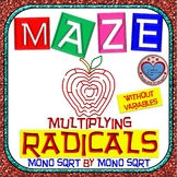 Maze - Radicals - Multiplying (Mono SQRT root by Mono SQRT root) - No Variables