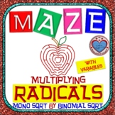 Maze - Radicals - Multiplying (Monomial by Binomial) - With Var