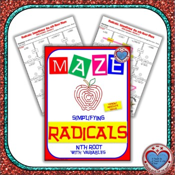 Maze - Radicals - Simplifying nth root (with variables) - 2 Mazes
