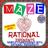 Maze - Rational Exponents - Simplify Expressions with Rational Exponents