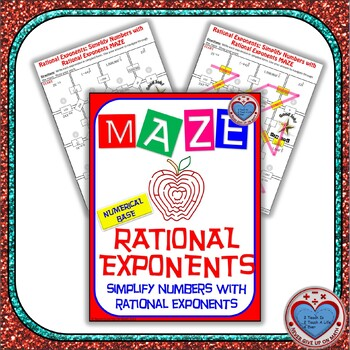 Maze - Rational Exponents - Simplify Numbers with Rational Exponents