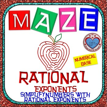 Maze - Rational Exponents - Simplify Numbers with Rational