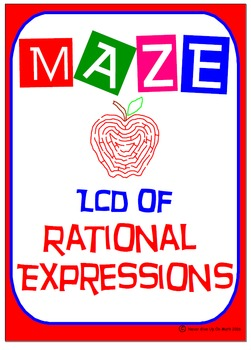 Maze - Rational Expressions - Finding the Least Common Den