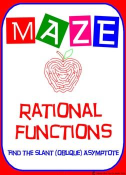 Maze - Rational Functions - Find the Slant (Oblique) Asymp