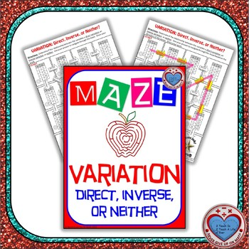 Maze - Rational Functions - Inverse Variation and Direct Variation