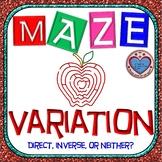 Maze - Inverse Variation and Direct Variation