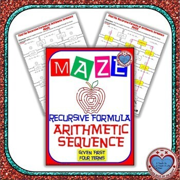 Maze - Recursive Formula of Arithmetic Sequence given first terms