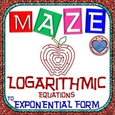 Maze - Rewriting Logarithmic Equation in Exponential Form