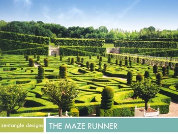 Maze Runner Art Lesson: Zentangle and Maze Design PowerPoint