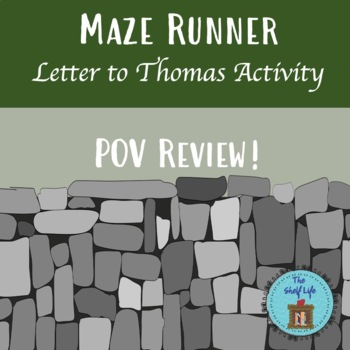 Maze Runner Letter to Thomas Activity