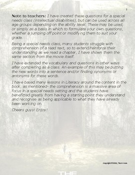 Maze Runner Questions and Vocabulary