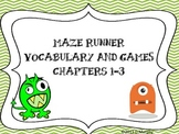 Maze Runner Vocabulary for Chapters 1-3