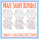 Maze Shapes Bundle - 72 Images!  3 Mazes Per Shape, 12 Shapes.  Commercial Use