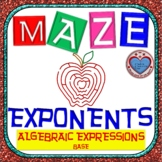 Maze - Simplifying Exponents (Algebraic Expressions)