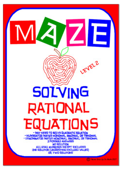Maze - Solve Rational Equations (Level 2)