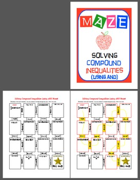 Maze - Solving Compound Inequalities - AND