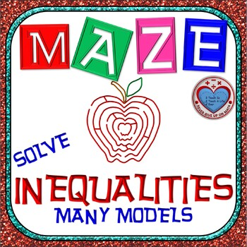 Maze - Solving Inequalities (ONE, TWO, & MULTI-STEP)