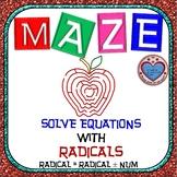 Maze - Solving Radical Equations - Radical Equals Radical