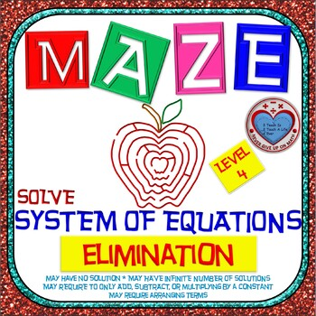 Maze - System of Equations - Solve by Elimination Level 2