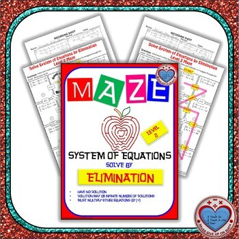 Maze - System of Equations - Solve by Elimination Option 3