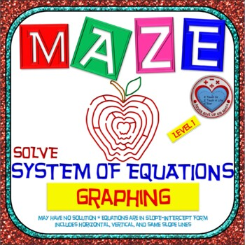 Maze - System of Equations - Solve by Graphing Level 1