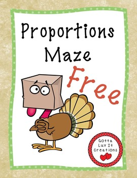 Free Download Thanksgiving Math Proportions Fall Activity