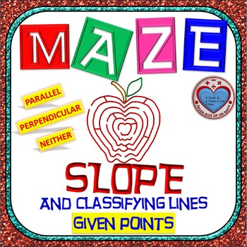 Maze - The SLOPE and the relationship of two lines (Perp, Parallel, or Neither)