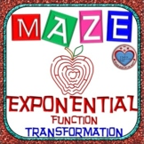 Maze - Transformation of Exponential Functions