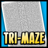 Maze Worksheet - Tri-Maze