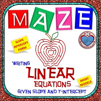 Maze - Write Linear Equation from slope and y-intercept (Slope Intercept Form)