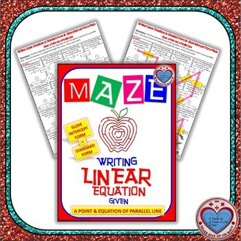 Maze - Writing Linear Equations given point and equation of parallel line