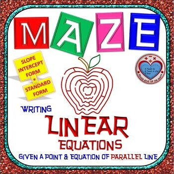 Maze - Writing Linear Equations given point and equation o