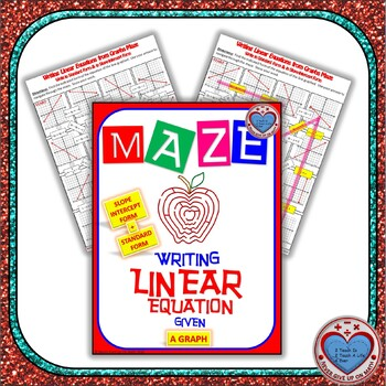 Maze - Writing Linear Equations in Slope-intercept & Standard from graphs